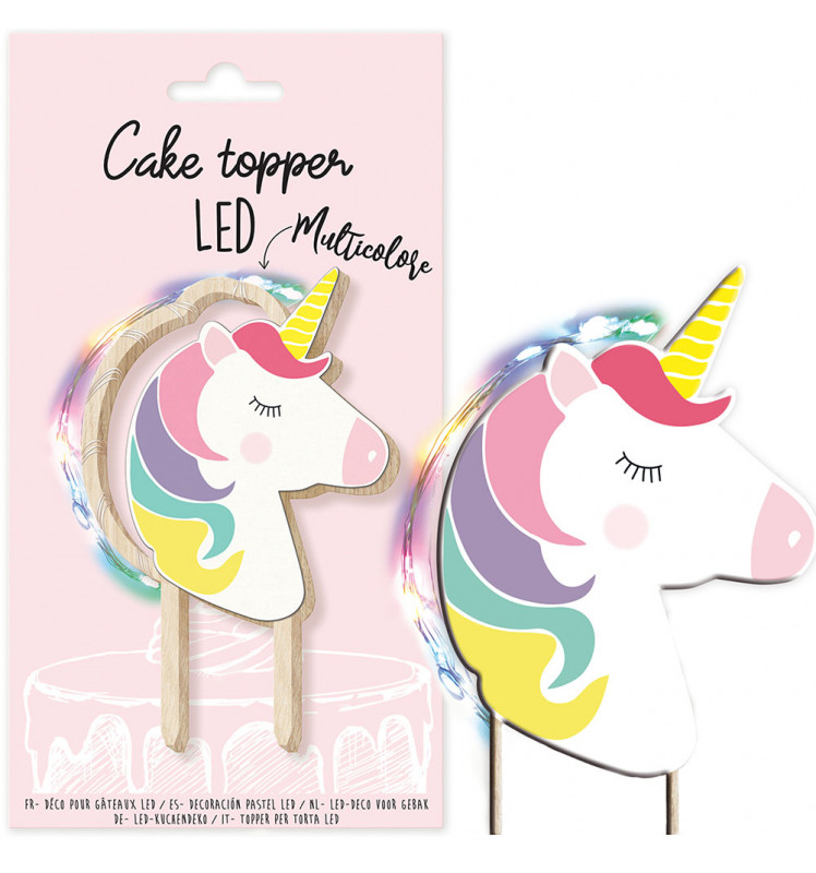 Cake topper led Licorne