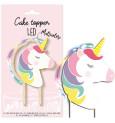 Unicorn LED cake topper
