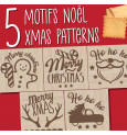 Tampon à biscuits bois Christmas + découpoir