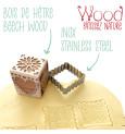 Tampon à biscuits bois déco + découpoir