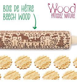 "5241 Rouleau empreintes bois ""Gingerman"""