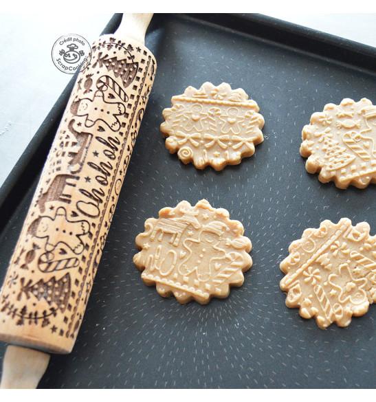 Rouleau empreintes bois Gingerman