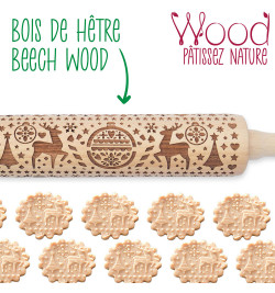"4542 Rouleau empreintes bois ""Xmas"""