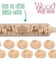 Rouleau empreintes bois Xmas