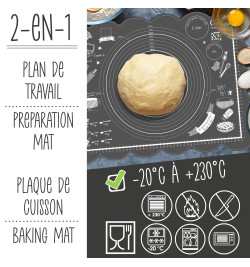 Tapis pâtissier silicone réf.5254