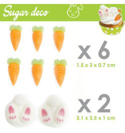 Décosucres lapin/carotte réf.6992