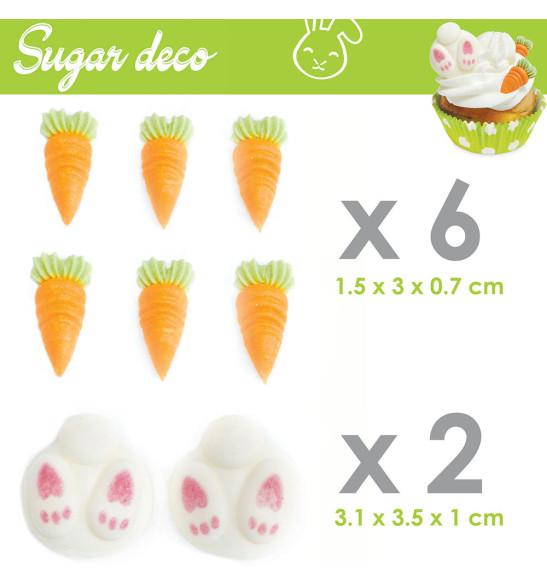 Décosucres lapin/carotte