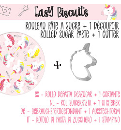 Easy biscuits licorne réf.7293
