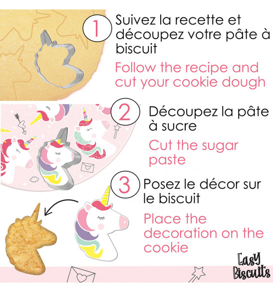 Easy biscuits licorne