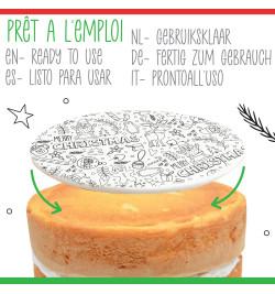 Rouleau pâte à sucre à colorier Noël réf.7297