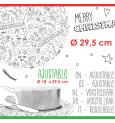 Rouleau pâte à sucre à colorier Noël