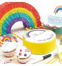 Rouleau pâte à sucre à personnaliser Rainbowv réf.7298