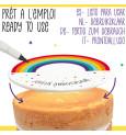 Rainbow sugar paste roll to customise