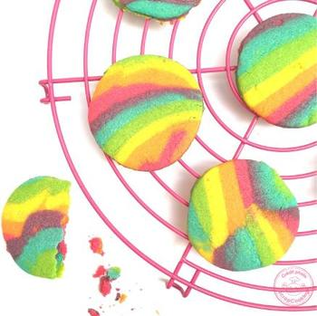 Biscuits arc-en-ciel / rainbow cookies