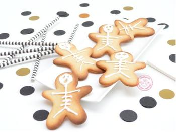 Biscuits squelettes pour Halloween !