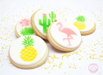 Biscuits décor au pochoir